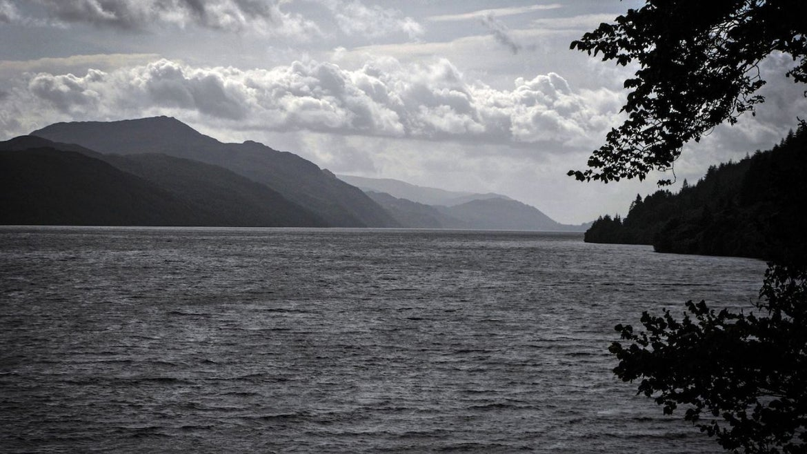 Light cloud covers the sky above Loch Ness in Drumnadrochit, Scotland, on September 5, 2019