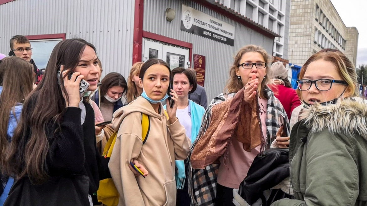 Students at Perm University in Russia.