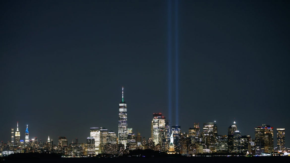 Tribute light in NYC