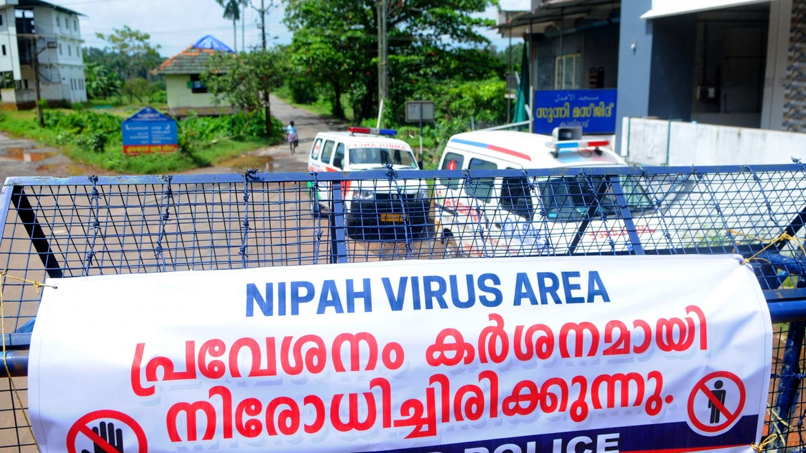 Health officials sealed off an area in Kerala in order to isolate people who have potentially been exposed to Nipah.