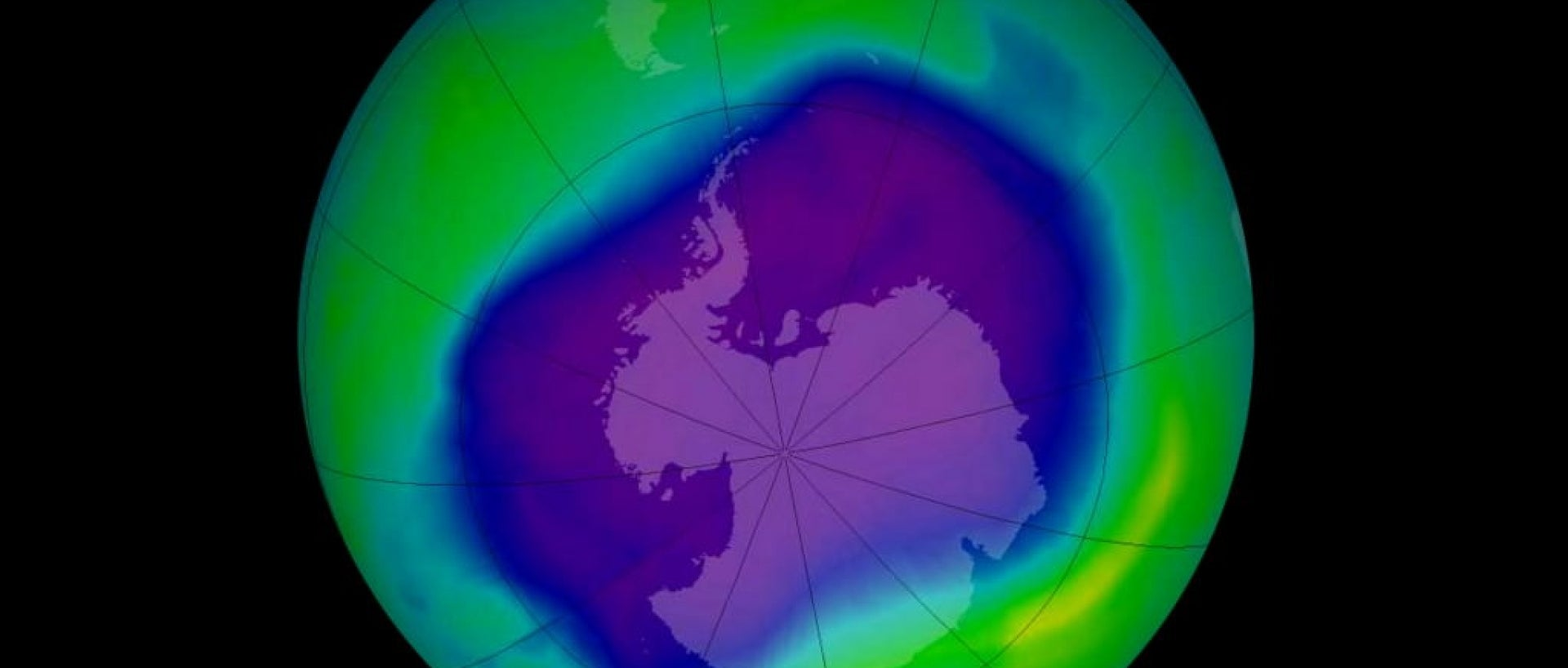 Ozone layer hole from 2006