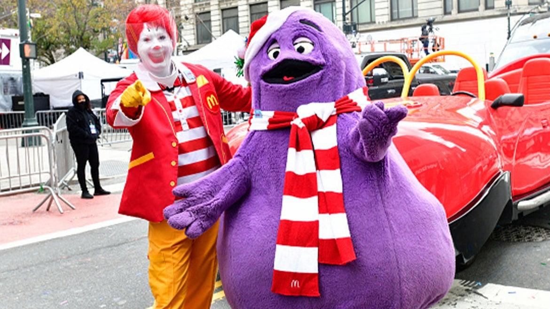 Ronald McDonald and his pal, Grimace