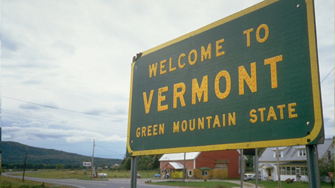 A stock image of Vermont signage.