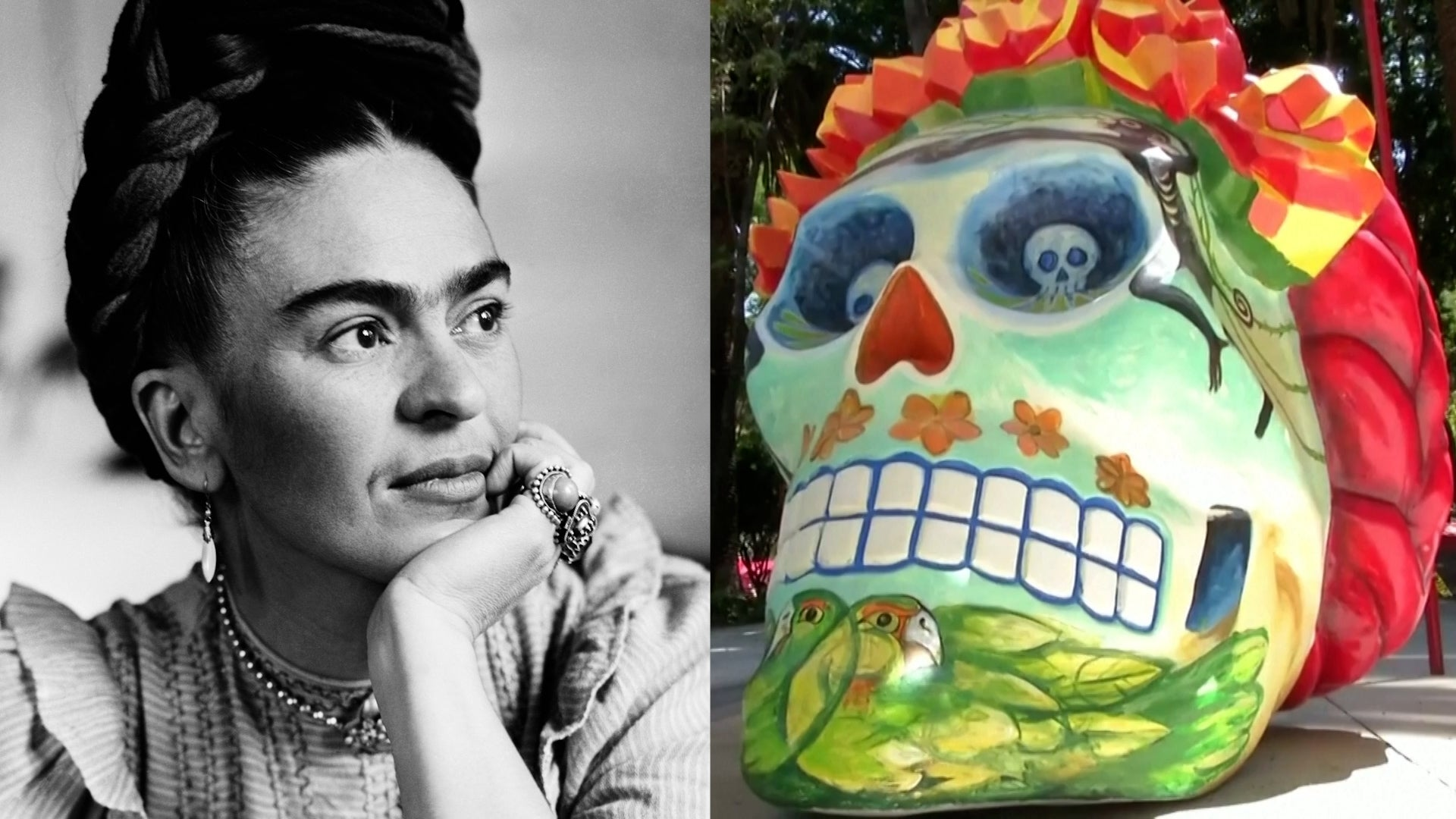 Massive Day of the Dead Skulls Are Popping Up Around Mexico City to Honor Frida Kahlo