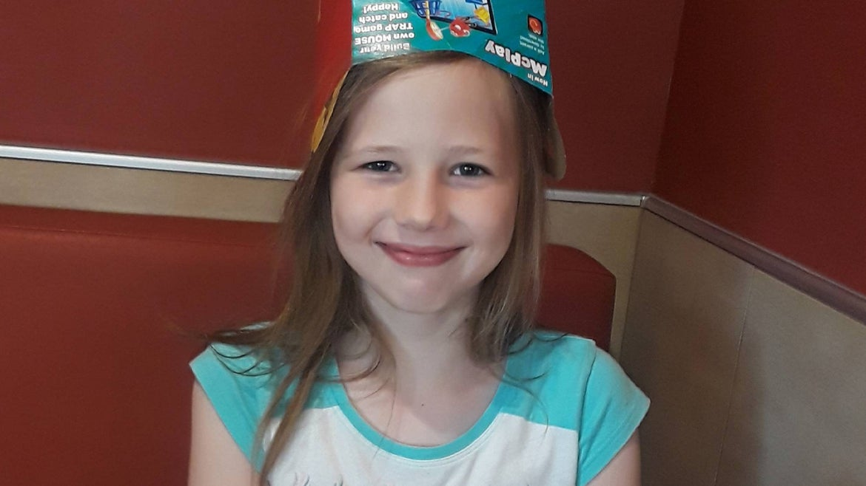 Carolanah Schenk, 11, victim of accidental shooting.