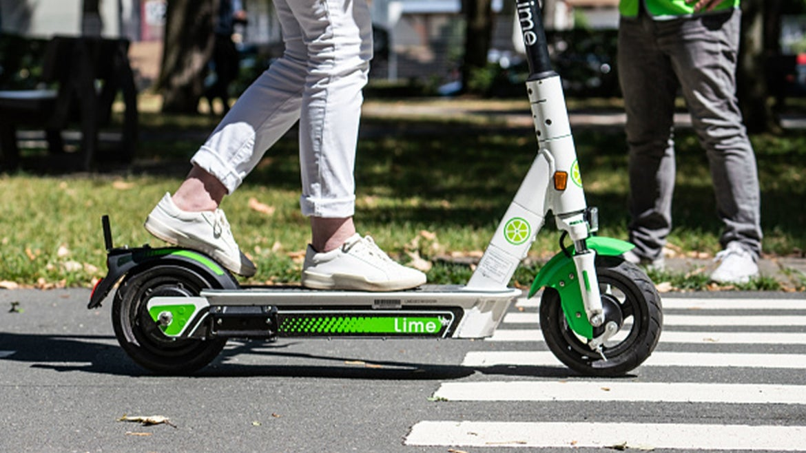 A stock image of an electric scooter.