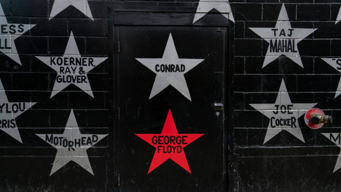 Star with George Floyd's name