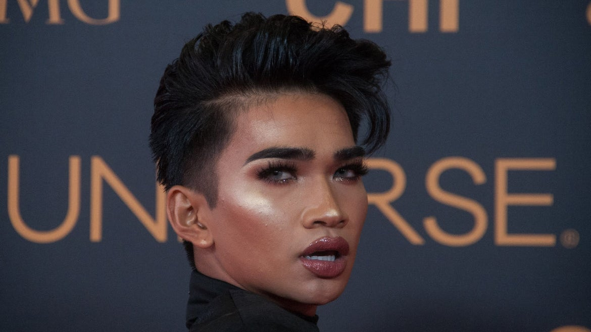 Bretman Rock poses for the cameras at the SMX in Pasay City. Miss Universe VIPs walked the red carpet at the SMX in Pasay City a day before the coronation.