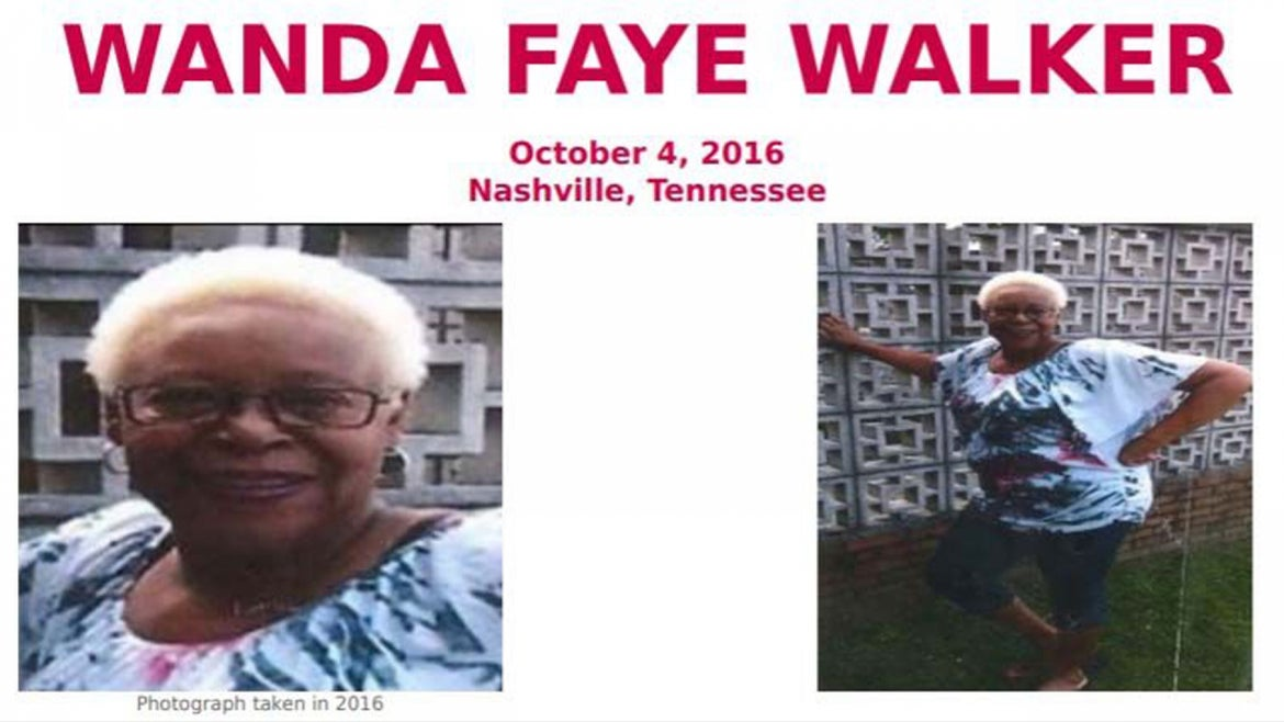 Missing person's poster of Wanda Walker