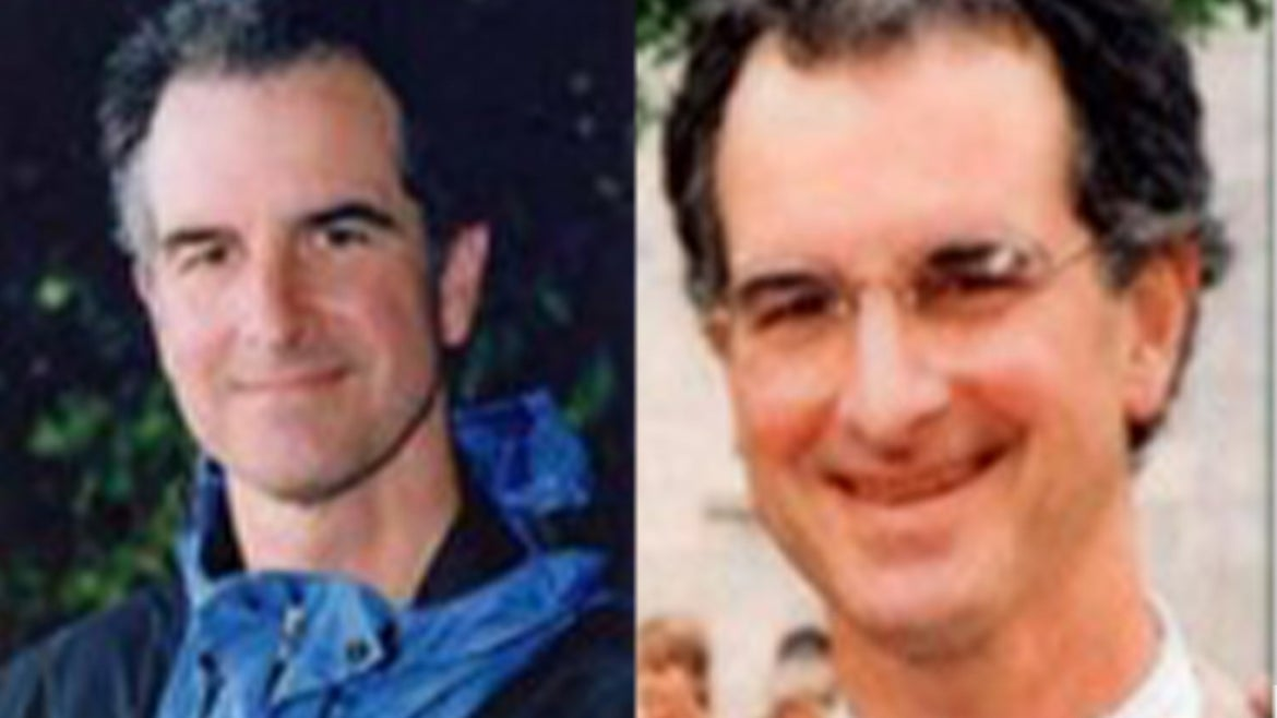 Two different images of Thomas C. Wales fatally shot in Oct. 2001 and his murder remains unsolved.